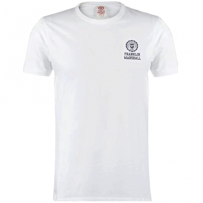 Franklin & Marshall Chest Logo Plain T-Shirt White TSMF187XNS17