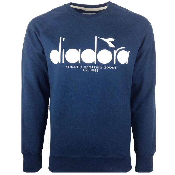 Diadora Navy Blue Crew Neck Sweatshirt 502.161925