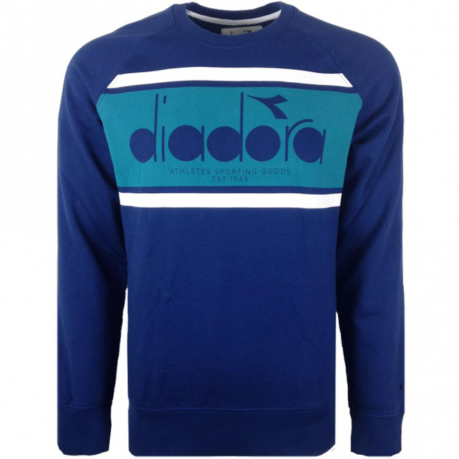 Diadora Blue Crew Neck Sweatshirt 502.161925