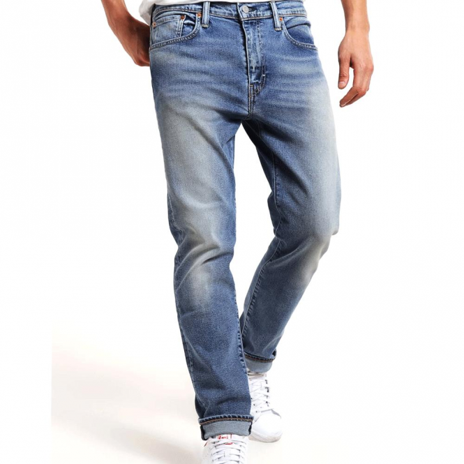 8cf5a7e08a3 Levi's Levi's 502 Regular Tapered Blue Mid Wash Denim Jeans 29507 ...