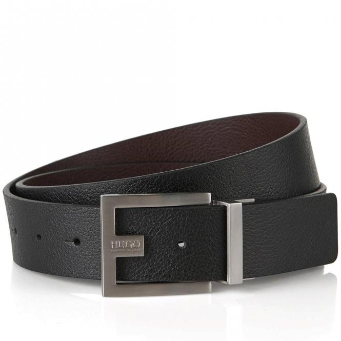 bddd84ee49ca HUGO HUGO by Hugo Boss C-Fleming Black Brown Reversible Leather Belt ...