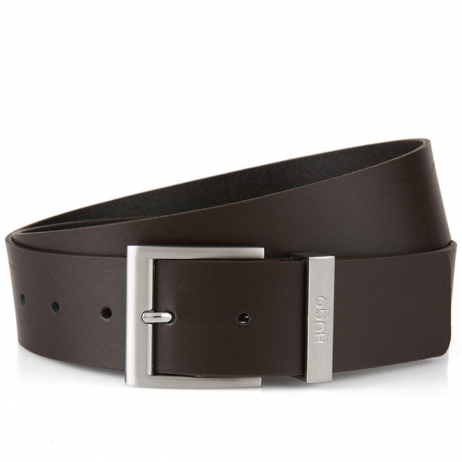 HUGO by Hugo Boss C-Bud Brown Leather Belt 50292558