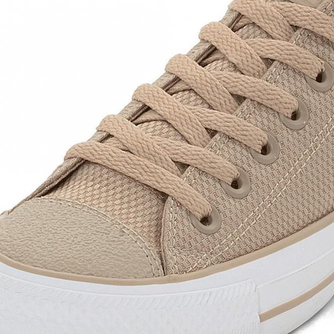 8b37903d5c1f Converse Footwear Converse All Star Ox Khaki Beige Nylon Weave ...