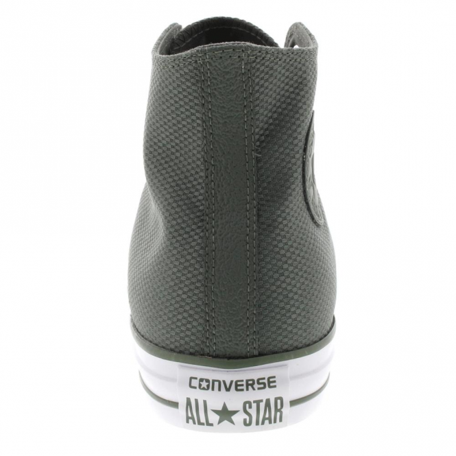 9bfdaa13a250 Converse Footwear Converse All Star Hi Olive Green Nylon Weave ...