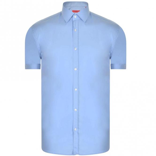 HUGO Boss Empson White Plain Shirt Short Sleeve 50405811