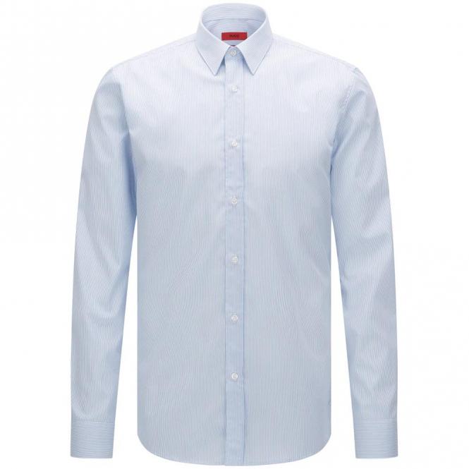 ab4e462f HUGO by Hugo Boss Elisha01 Blue Stripe Shirt Long Sleeve 437 50330372