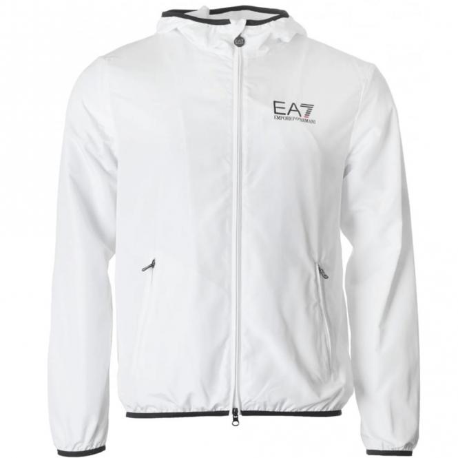 240de482 EA7 Emporio Armani EA7 Lightweight Hooded Jacket White 3YPB30 - EA7 ...