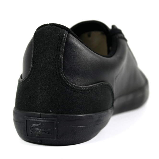 4e39dda129efd Lacoste Footwear Lacoste Lerond 317 Black Leather Trainers - Lacoste ...