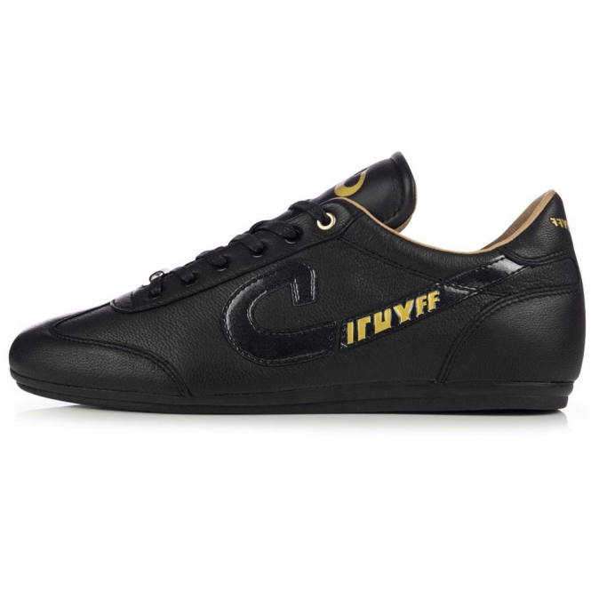 Cruyff Classics Vanenburg 317 Black Tanger Leather Trainers