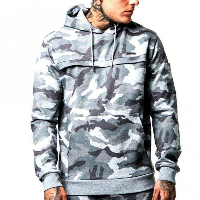 Foray Ace HD Camo Overhead Hoody Grey