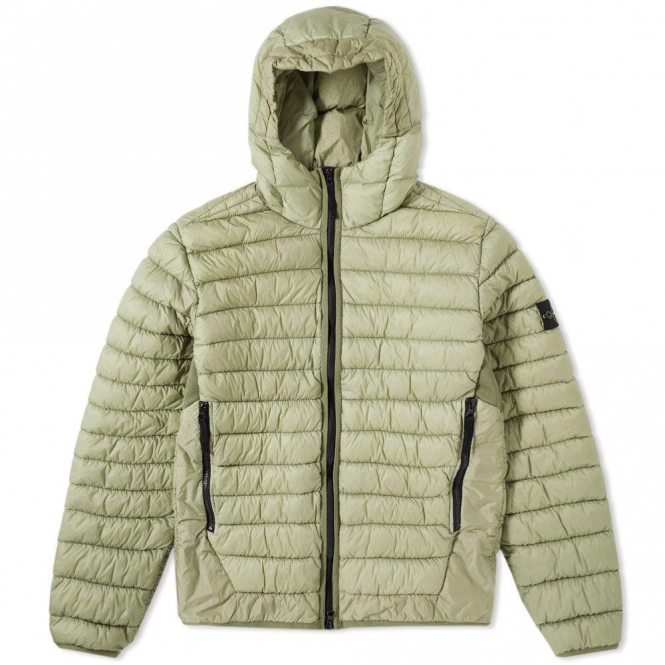 detailed images get new new style Stone Island Stone Island Hooded Lightweight Down Puffa Jacket ...