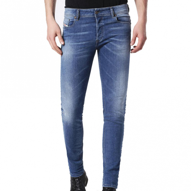 Diesel Sleenker Stretch Denim Washed Jeans 084HD