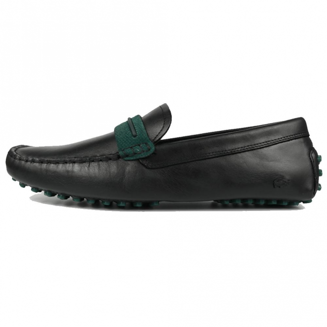Lacoste Footwear Lacoste Herron 317 Black Leather Slip On Loafer Shoes