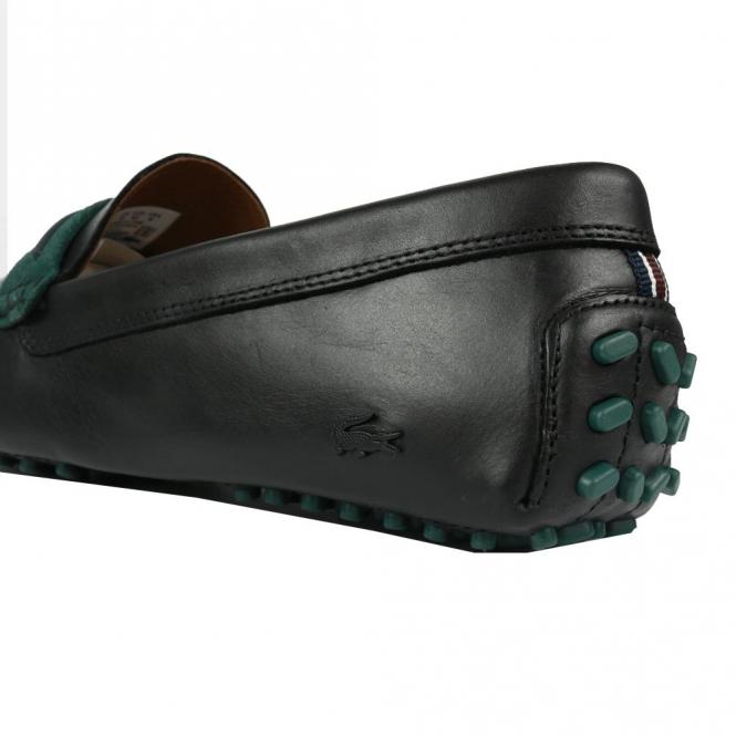 3d0787a37 Lacoste Footwear Lacoste Herron 317 Black Leather Slip On Loafer ...