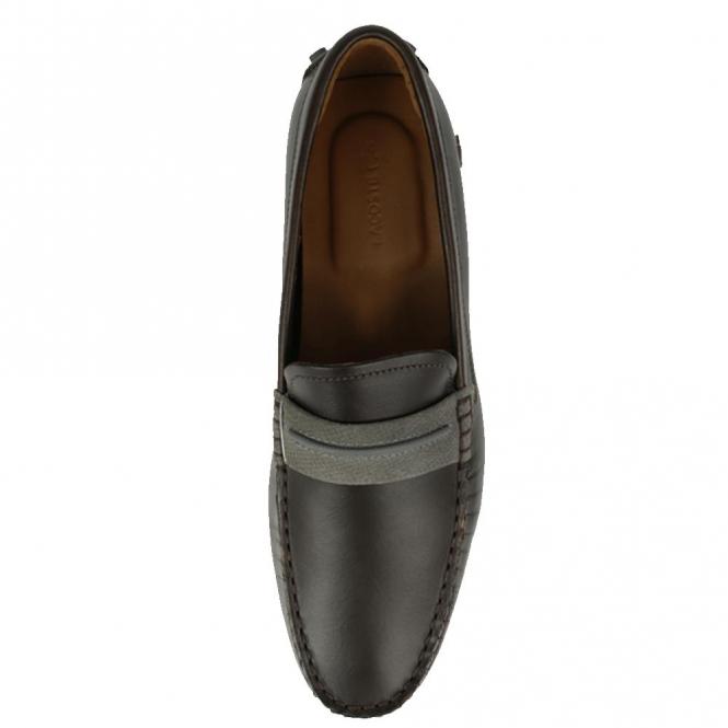 e93c3b0dd Lacoste Footwear Lacoste Herron 317 Dark Brown Leather Slip On ...