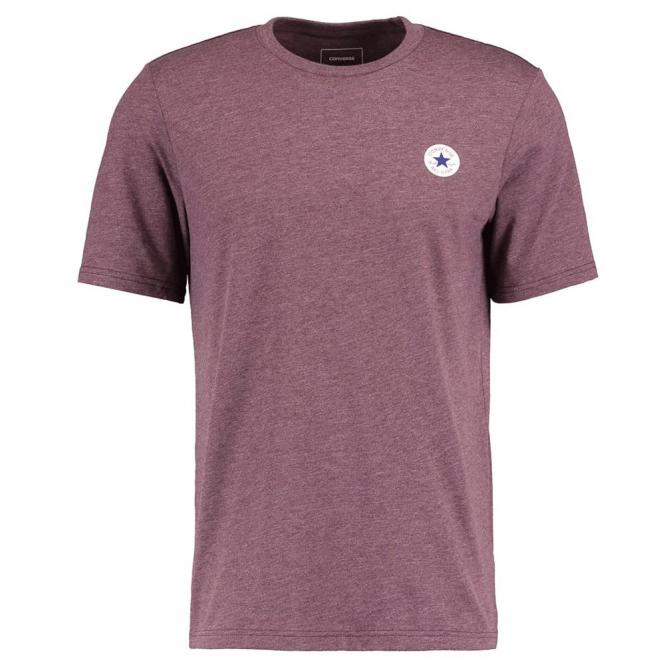 1d953dabd640 Converse Converse All Star Chest Logo T-Shirt 262 Burgundy Marl ...