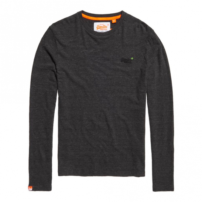 33837ffb Superdry Superdry Orange Label L/S Vintage Emb Steel Grey Grit T ...
