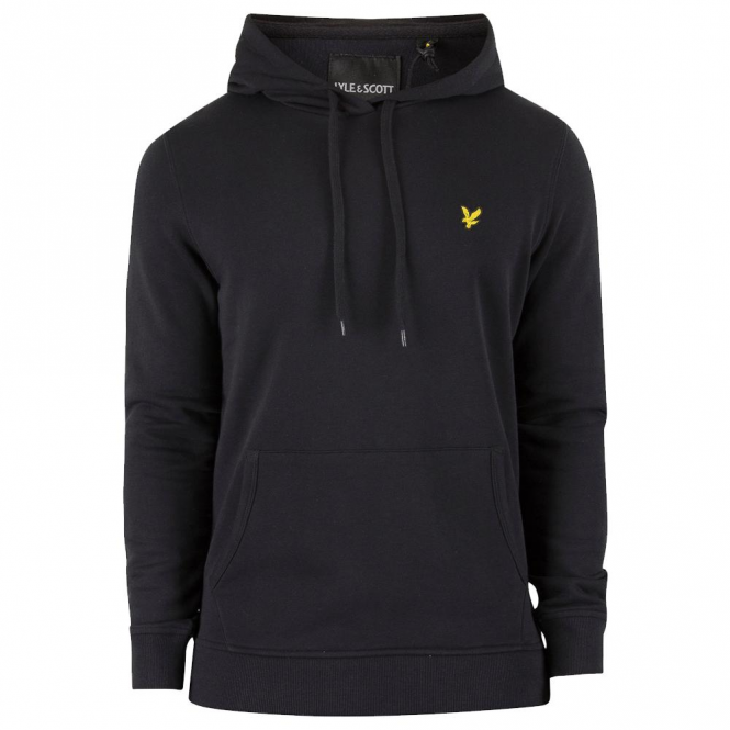 Lyle & Scott Black Over-Head Hoody Sweat ML416V