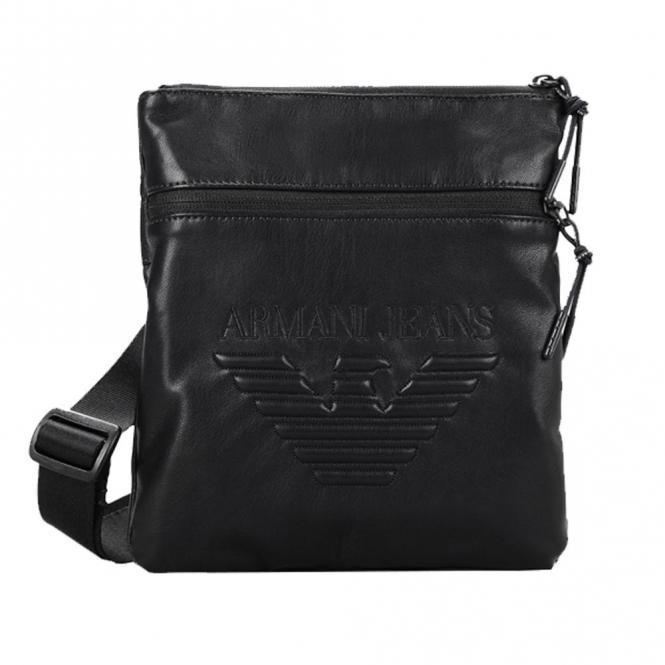 Armani Jeans Armani Jeans Black PU Small Side Bag 932179 7A937 ... 098e74680f10e