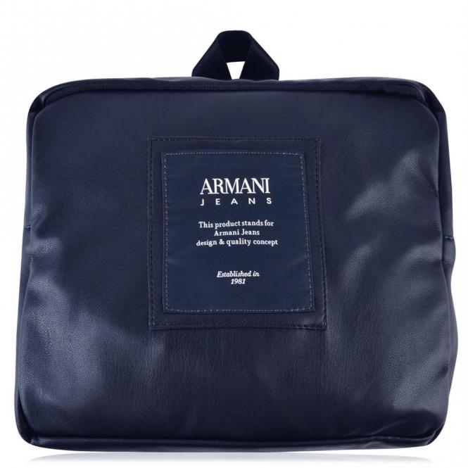 Armani Jeans Armani Jeans Navy Blue PU Backpack 932063 7A937 ... e87e6c0025c29