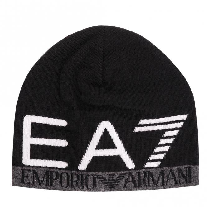 EA7 Emporio Armani EA7 Black Beanie Hat 275560 7A393 - EA7 Emporio ... 1e8c5baf3e6