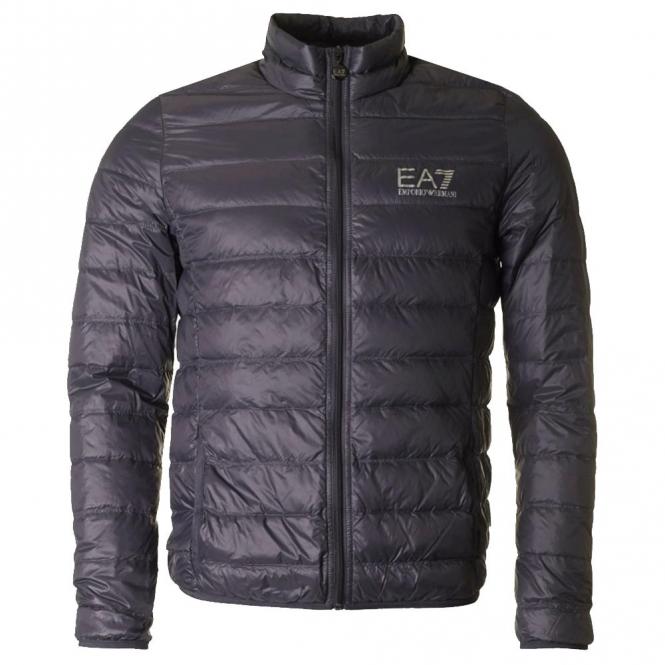 b1e19c5c94 EA7 Emporio Armani Emporio Armani EA7 Ultra-Light Down Jacket Dark Grey  8NPB01 PN29Z