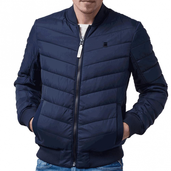 G-Star Meefic Bomber Quilted Jacket Blue D03487