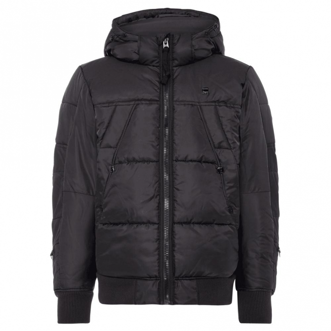 a9c4e349454 G-Star G-Star Whistler HDD Bomber Quilted Hooded Jacket Black D05991 ...