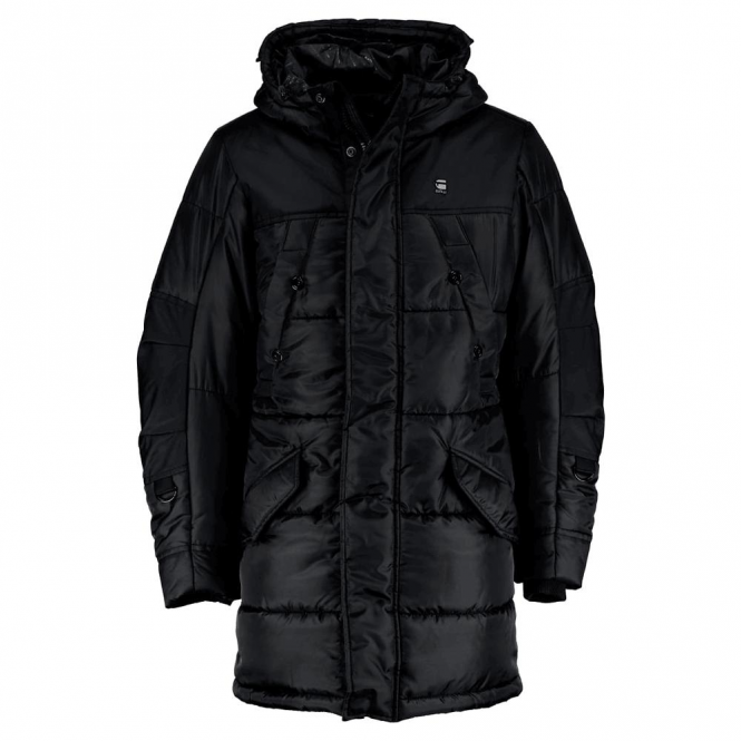 36434dd9442 G-Star G-Star Whistler HDD Parka Quilted Hooded Coat Black D05993 ...