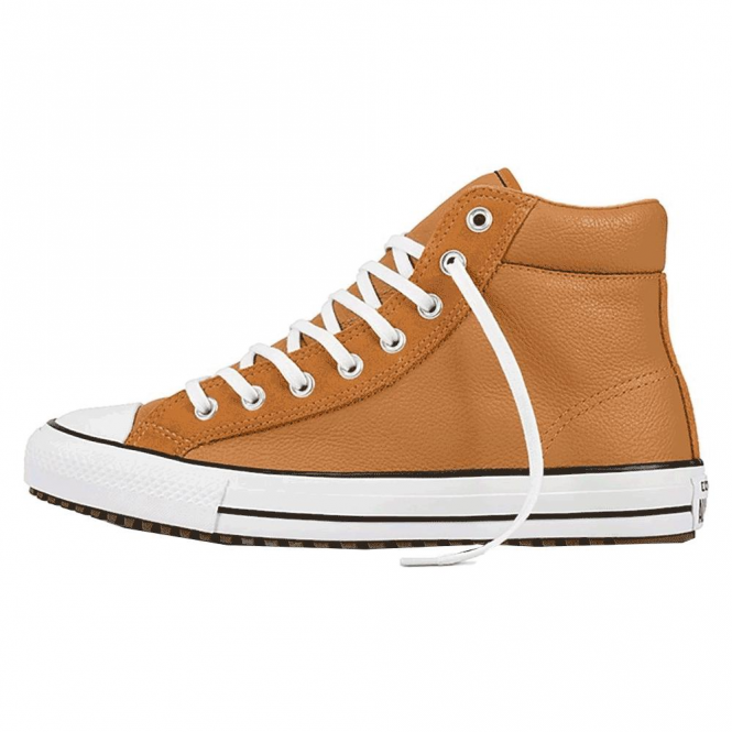Converse Footwear Converse All Star Raw Sugar Tan Leather Hi Top Trainers 157494C