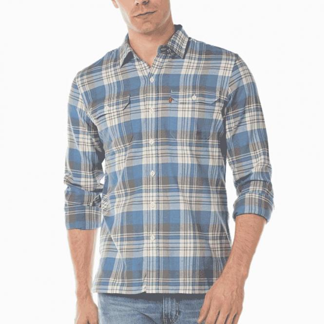 Levi's Levi's Jackson Worker Light Blue Grey Check Shirt 19573 0050