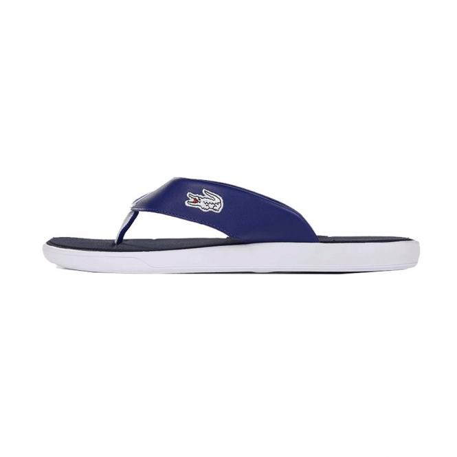 25abb2a99 Lacoste Footwear Lacoste L.30 Leather Straps Sandals Blue - Lacoste ...