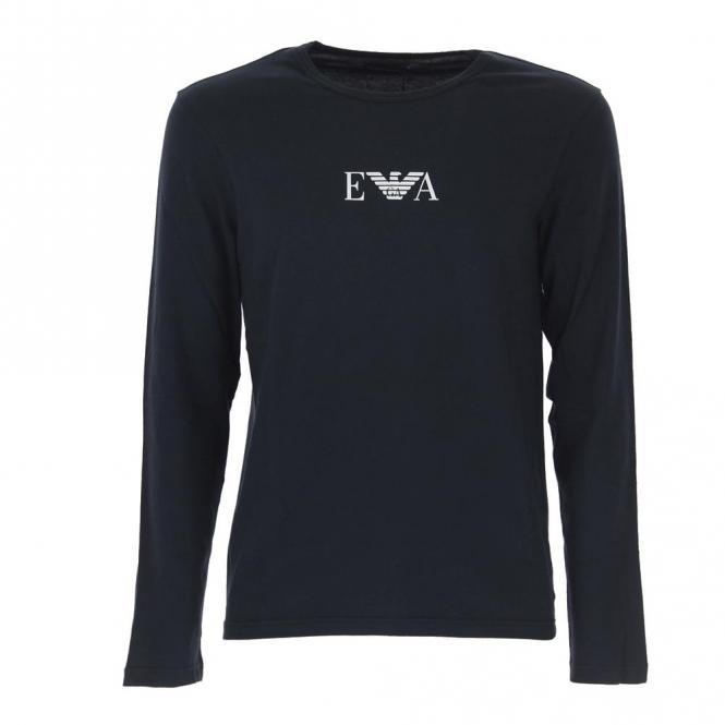 0c02defeb135 EA7 Emporio Armani Emporio Armani Logo Long Sleeve T-Shirt Black ...