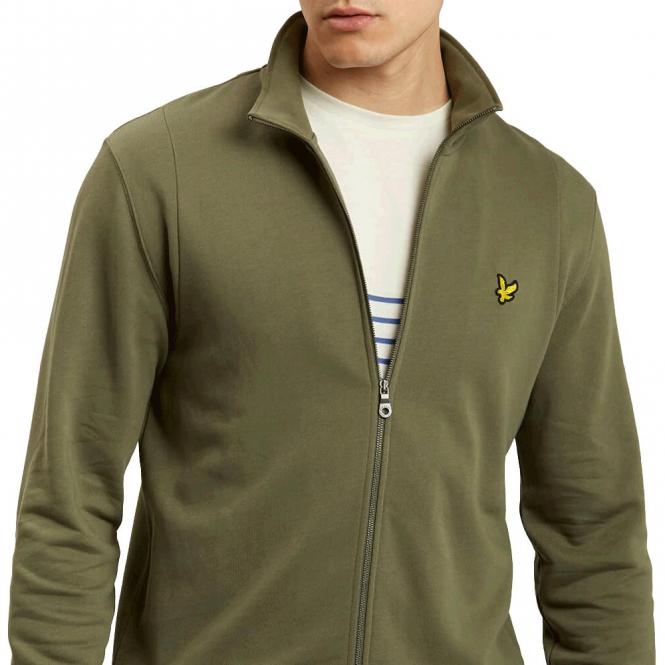 db4629915 Lyle & Scott Lyle & Scott Olive Green Zip-Up Sweatshirt ML702V