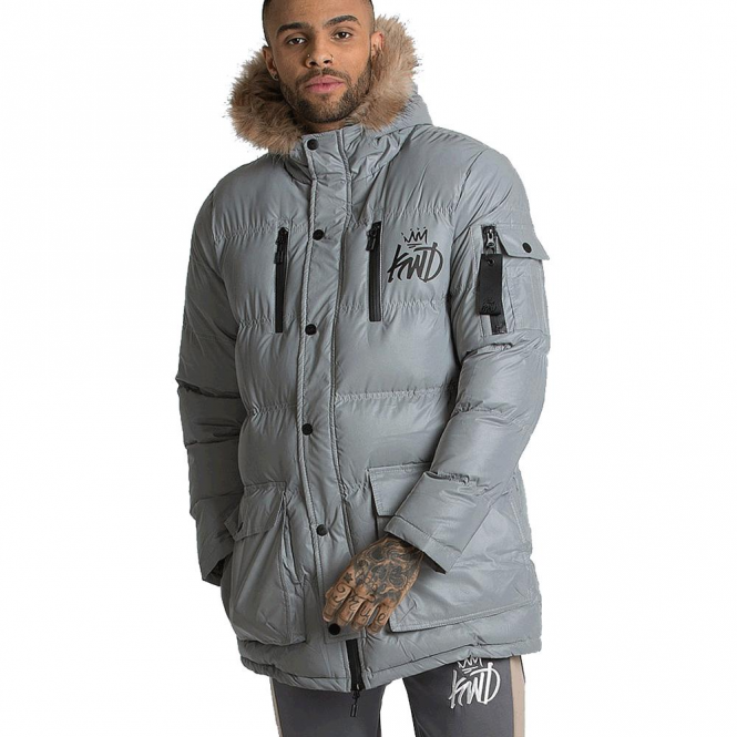 choose original top-rated authentic wide selection Kings Will Dream KWD Roxley Reflective Hooded Puffa Parka Coat