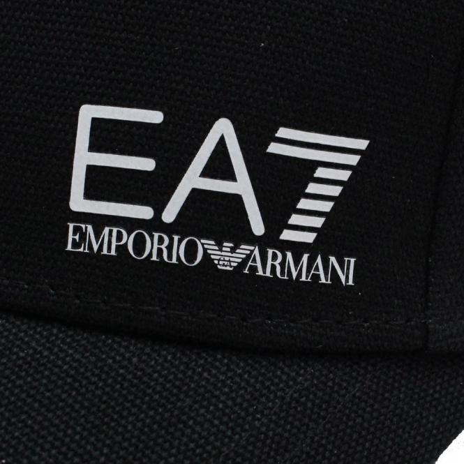 8a29c65268fd22 EA7 Emporio Armani EA7 Black Cotton BaseBall Cap 275692 - EA7 ...