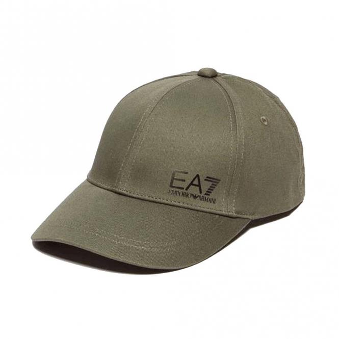 ab5c743ba1ab76 EA7 Emporio Armani EA7 Khaki Green Cotton BaseBall Cap 275692 - EA7 ...