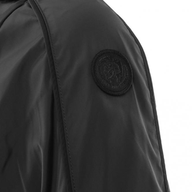 Diesel Diesel J-Quad Black Zip Nylon Biker Jacket