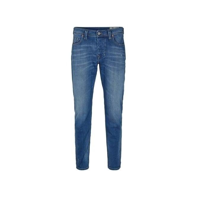 d57fdffe Diesel Diesel Larkee-Beex Stretch Washed Blue Regular Tapered Jeans ...