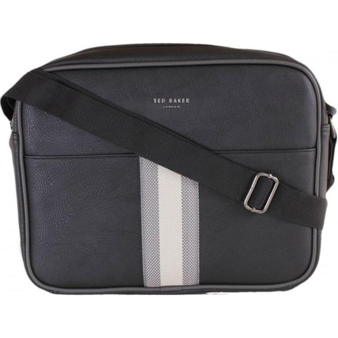 Ted Baker Delano Black PU Webbing Despatch Bag