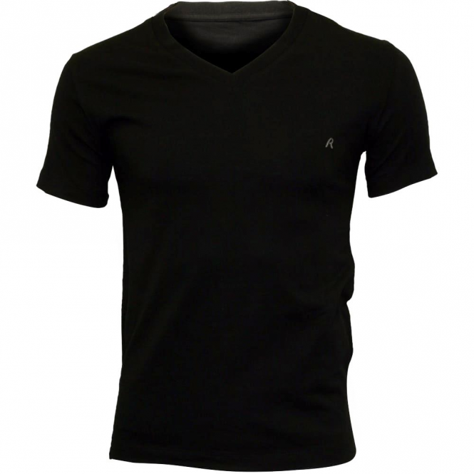 e49318ef Replay Replay 2 Pack Plain Black V-Neck T-Shirts M3589 - Replay from ...