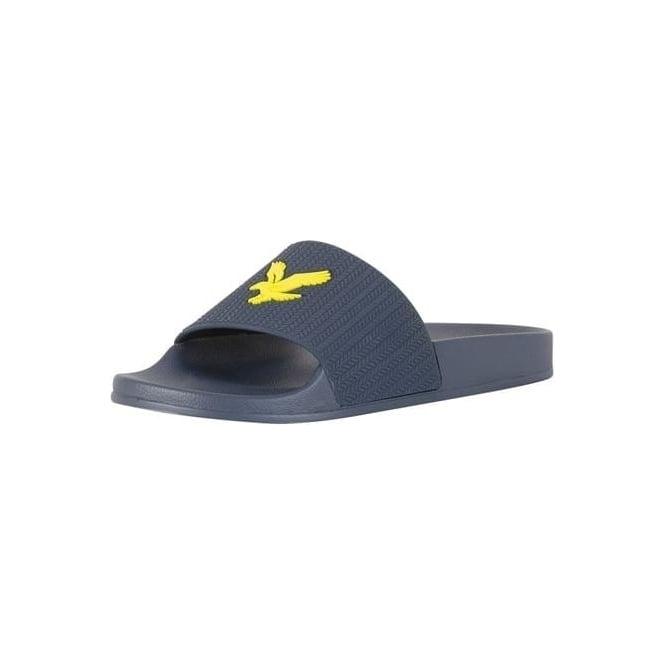 b6d17398368ef Lyle   Scott Lyle   Scott Thomson Navy Slide Sandals FW814 - Lyle ...