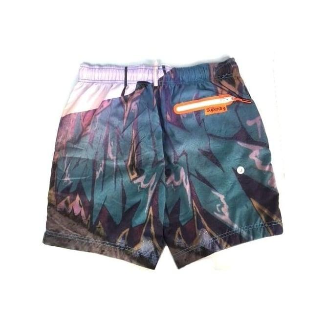 Superdry Premium NEO foto Swim Shorts Graffiti Wall NI1