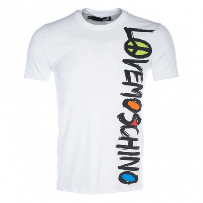 good texture newest collection get new Love Moschino Love Moschino White Logo T-Shirt M473164E1811
