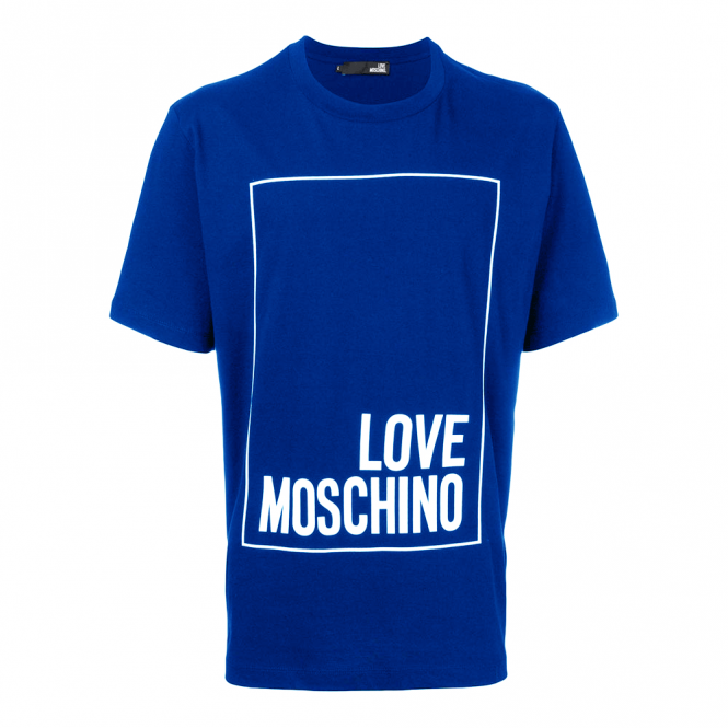 9cc0a0f4728b4 Love Moschino Love Moschino Blue Box Logo T-Shirt M473269M3876 ...