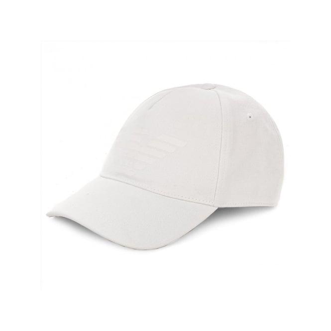 Emporio Armani Emporio Armani White Canvas BaseBall Cap 627252 8P558 ... 79b5d0e5517