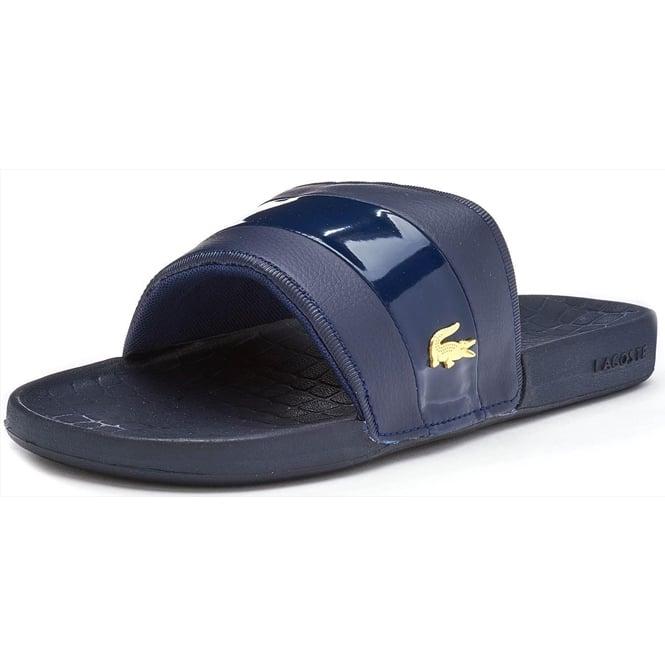3c45db82d Lacoste Footwear Lacoste Fraisier 118 Navy Blue Slide Sandals ...