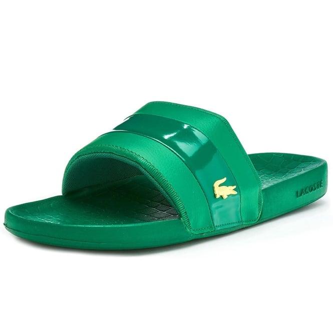 1a6dea8e9167d Lacoste Footwear Lacoste Fraisier 118 Green Slide Sandals - Lacoste ...