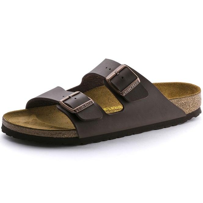 d2dd6a7122a6 Birkenstock Birkenstock Arizona Birko-Flor Dark Brown Mule Sandals ...
