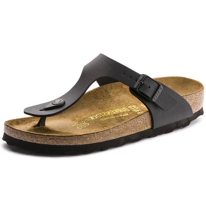 606afd60e7c Birkenstock Birkenstock Gizeh Birko-Flor Black Toe Post Sandals ...